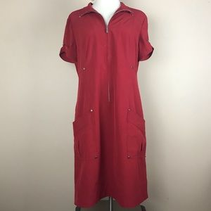 Zenergy   Red Size 1 Zip Up Dress